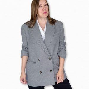 Zara Vintage Inspired Double Breasted Blazer Sz M